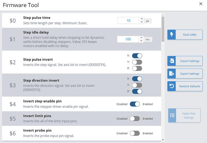 eeprom settings